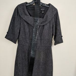 White House Black Market Belted Dress Sz8